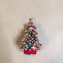 Vintage Sulyn MULTI CHRISTMAS TREE Sequin Bead Ornament  - $9.89