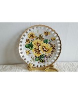 Vintage Floral Laced Gold Trim Norcrest Japan Hand Painted Wall Hanging ... - $11.99