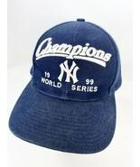 New York Yankees 1999 World Series Champions Snapback Hat Blue  - $11.87