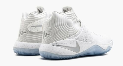 "NEW Nike Kyrie 2 II ""Speckle"" White Silver Basketball Shoes 819583-107 Size 14"