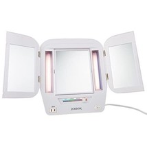 Jerdon JGL10W Lighted Makeup Mirror with 5x Magnification, White Finish,... - $41.99