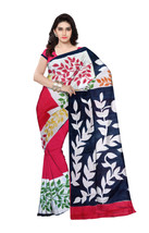 Hand Printed Murshidabad Pure Silk Saree With Blouse Pices RED (C68) - $99.25