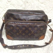 Authentic Louis Vuitton Brown Mono Nile Crossbody 11inx8inx4.5in (TH8911) - $284.95