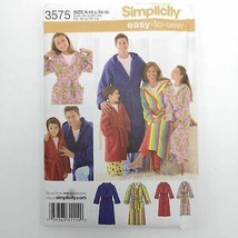 Simplicity 3575 Pattern Unisex Family Robe Adult and Kids Sizes Uncut - $14.99