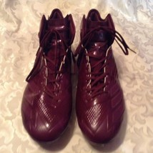 Adizero Adidas football cleats Size 13 burgundy sports athletic shoes Mens - $59.99
