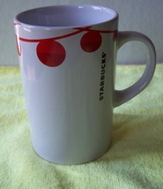Starbucks 2012 Tall Coffee Tea Mug Holiday Red Christmas Balls Design 10... - $14.54
