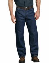 Dickies Men's Industrial Carpenter Jean Rinsed Indigo Blue 56W x 39L Unh... - $30.84