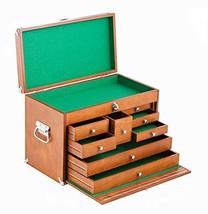 Wood Tool Box Craft Machinist Cabinet Hardware Chest Drawer Storage Carp... - $120.78