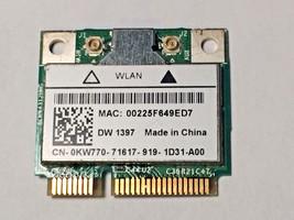 Dell KW770 Inspiron 1545 Studio 1535 Mini 10 802.11g Wireless Mini PCI-E... - $14.84