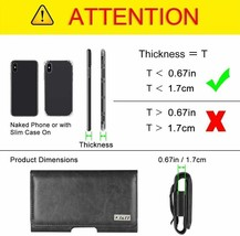 J&D Holster Compatible for Samsung, Synthetic Leather, Black image 2