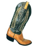 Vintage Tony Lama Men's Brown Leather Two Tone Western Cowboy Boots 6552... - $71.27