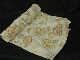 Dan River Vintage Dantrel USA Twin Flat Sheet Floral Tan Muslin - $7.91