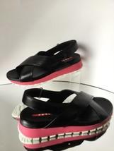 NEW PRADA Crisscross Leather Sandals (Size 37.5) - MSRP $595.00! - $319.95