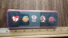 Boxed set of 5 TY collectible Beanie Baby pins  (with PINCHERS PIN) - $4.99
