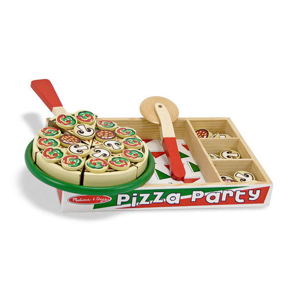 Melissa and Doug Play Food Pizza Party Set by Melissa & Doug