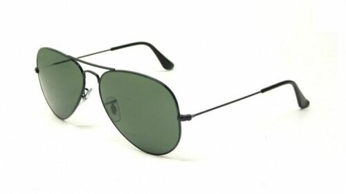 943824c3c61 12. 12. Previous. New Authentic Ray Ban RB3025 L2823 58mm AVIATOR Black  Frame  Green G-15 Lenses
