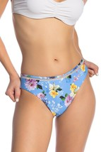 NANETTE LEPORE Monaco Bikini Swim Bottom Large L Beach Blue Floral Swimw... - $24.97