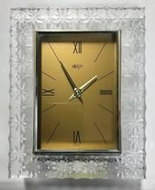 """Vintage MIKASA Liana Crystal Clock Germany 9""""x7.25"""" - $58.79"""