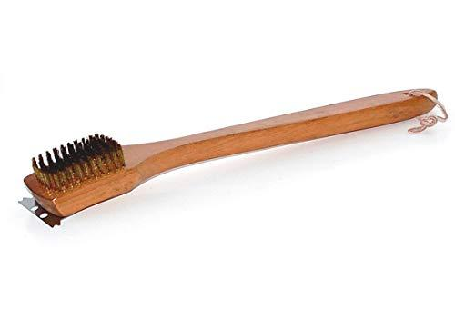 Deluxe 18-in Grill Brush w Hardwood Handle - WB3