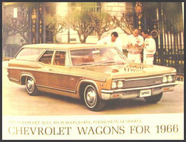 1966 Chevy Chevrolet Station Wagon Brochure Impala Original  - $11.68