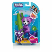 Fingerlings Interactive Baby Fox Sarah Purple & Blue WowWee New  - $15.68