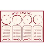 "Sip Sip Hooray 14"" x 10"" Wine Tasting Placemat, Case of 288 - $62.47"