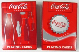 2 Decks New Wave Coca Cola Brand Playing Cards Bottles & Bottle Caps Coke Usa - $7.65