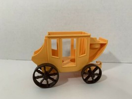 vintage Fisher-Price Little People stage coach yellow western town 934 - $9.89