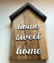 Small House Wood Decor Home Sweet Home - $14.99