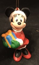 Vintage The Walt Disney Co Minnie Mouse With Present Christmas Ornament Holiday - $5.00