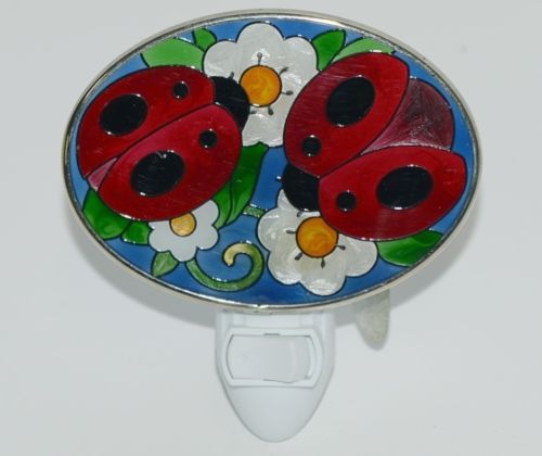 Joan Baker Designs NL262 Night Light Ladybugs and Flowers