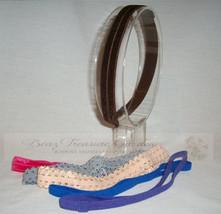 6 Pc Mixed Fold Over Elastic Headbands w/Interchangeable Loop - Set of 6... - $4.70