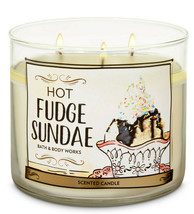 Bath & Body Works Hot Fudge Sundae Three Wick.14.5 Ounces Scented Candle - $22.49