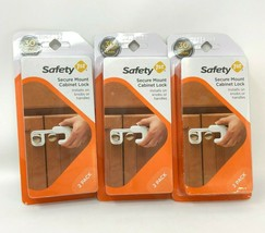 Safety 1st Baby Child Secure Mount Cabinet Lock Pack of 2 - 3 packages 6 total - $12.34