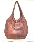 Unbranded Genuine Leather Tan Hobo Handbag Purse - $70.00