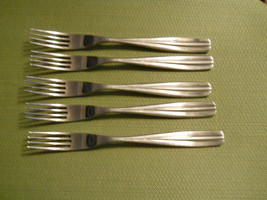 "Stufio William Papaya set of 5 dinner forks 8 1/4"" - $15.79"