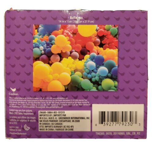 Colorful Balloons NEW 300 Piece Jigsaw Puzzle Cardinal Sealed 14 x 11