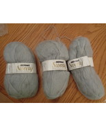 Bernat Sweety Yarn 2292 Pearl Grey 413 Lot of 3 Crochet Knitting Wool Blend - $14.99