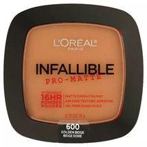 L'oreal Infallible Pro-Matte - Oil Free 16 HR Powder 600 Golden Beige - $7.29
