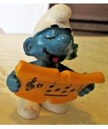 Vintage SMURFS Smurf singing sheet music mini PVC Figure toy - $5.99