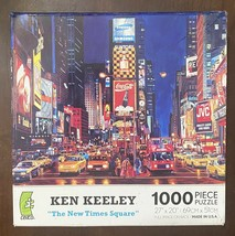 """Ceaco 1000 Pc Jigsaw Puzzle - The New Times Square - 27x20"""" By Ken Keeley - $12.38"""