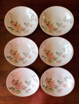 "Sango MAY TIME 8 1/4"" x 7 1/2"" Floral Oval Salad Soup Bowls 217004 - Lot of 6 - $37.19"