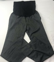 "Maternity Business Pants Sz 4 30"" Inseam Liz Lange Charcoal Gray Stretch... - $38.60"