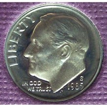 1985-S Proof DCAM Roosevelt Dime PF65 #0374 - $2.39
