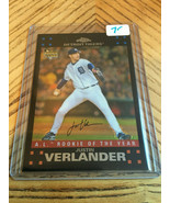 2007 Topps Chrome Justin Verlander A.L. Rookie of the Year RC - $6.93