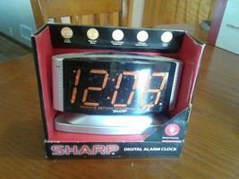 SHARP Home LED Digital Alarm Clock – Swivel Base - Outlet Powered, SPC033d - $15.88