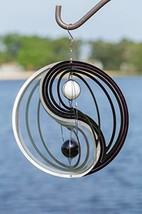 VP Home Kinetic 3D Metal Garden Wind Spinner Yin Yang image 1