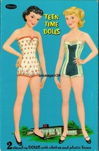 VINTAGE UNCUT 1950's TEEN TIME PAT & CAROL PAPER DOLLS~#1 REPRODUCTION~G... - $19.99