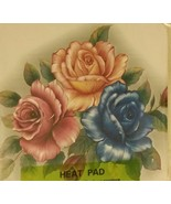1 Natural Bamboo Heat Pad, Kitchen Decor, COLORFUL FLOWERS, square - $8.90
