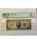 1934A $20 Dollar Hawaii Federal Reserve Note PCGS Very Fine 20 Apparent - $110.00
